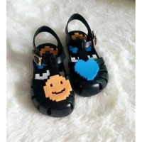 Sepatu Anak Perempuan / Flat Shoes Anak Jelly Sandal Lego Smile Mini