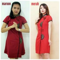Promo Dress Cheongsam Katun Import Wanita