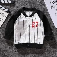 pakaian anak jaket anak laku laki stripes baseball