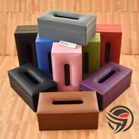 PREMIUM QUALITY TISSUE BOX Tempat Tisu Kulit Oscar Mobil Rumah Kantor - RANDOM