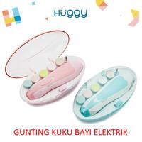 Gunting Kuku Elektrik Bayi & Dewasa Electric Nail Trimmer Manicure Set - Merah Muda