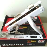 """Hampton Kunci+Body Handle Komplit Set utk pintu Aluminium 3"""" Type 9055 - Hitam"""