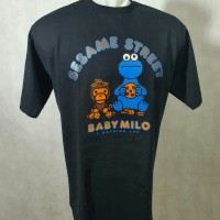 T Shirt / Kaos BAPE original Baby Milo X Sesame Street -Cookie monster