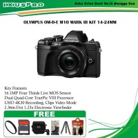 Olmpus OM-D-E M10 Mark III Kit 14-42mm Paket Hemat Kamera Mirrorless