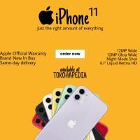 [DUAL SIM] iPhone 11 128GB / 128 RED, BLACK, WHITE, PURPLE, GREEN - DUALNANO BLACK