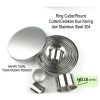Cetakan Kue Kering 12 pcs Ring Cutter / Round Cutter / Stainless Steel