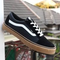 Sepatu Vans Old Skool Hitam Sol Gum / Vans Oldskool Gum