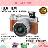 FUJIFILM X-A20 KIT 15-45MM - KAMERA MIRRORLESS - PAKET LENGKAP