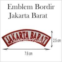 Emblem Bordir Jakarta Barat