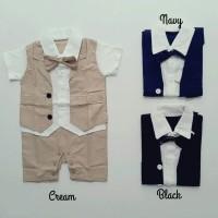 baju pesta romper jumper tuxedo dasi murah anak bayi laki laki