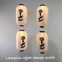 Lampion capsule kain ramen putih outdoor promo 25 x 45 cm
