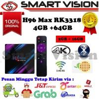 H96 MAX RK3318 Android Tv Box 4GB/64GB Android 9.0 Pie Full Custom