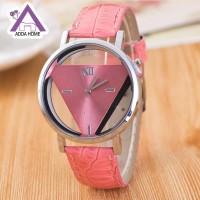 Jam Tangan Wanita Elegan Desain Korea - J2 - Merah Muda