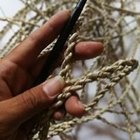 tali dekorasi tali seagrass asli, tali serat alam pandan