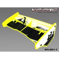 Rc Car Wing VP Pro Plastik Yellow 1/8 For Truggy Buggy