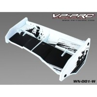Rc Car Wing VP Pro Plastik White 1/8 for Truggy Buggy .