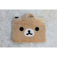 Rilakkuma Face Cream 10-14 Inch Tas Laptop Softcase Animasi Lucu - 10 Inch