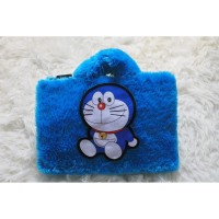 Cutting Doraemon Biru Lebat 10-14 Inch Tas Laptop Softcase Animasi