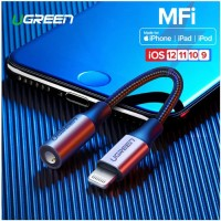 UGreen Iphone Lightning to AUX 3.5 mm Audio + Mic Supported MFI