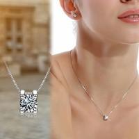 Kalung Lapis Silver Dgn Liontin Simbol Hati U Hari Valentine