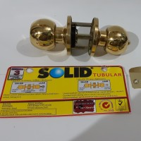 Kunci bulat/ Kunci kamar mandi/ tubular lever set SOLID GP T60X300