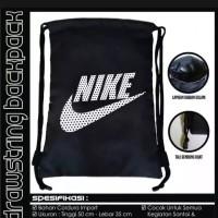 Tas Ransel Serut Drawstring Bag / Tas Nike kampus / Olahraga / Futsal