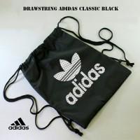 Tas Ransel Serut Drawstring Bag / Tas Adidas kampus / Olahraga Murah