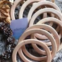 Ring Kayu Gagang Handle Tas Wooden Solid