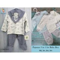 3 in 1 Baby Boy Pajamas / Piyama Bayi Laki / Baju Celana Panjang