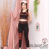 Paris Sport Set setelan baju olah raga wanita legging senam aerobic