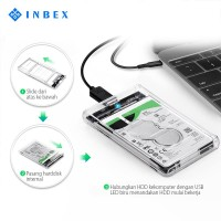 INBEX HDD Eksternal Casing Harddisk Enclosure 2.5-inci USB3.0 SATA