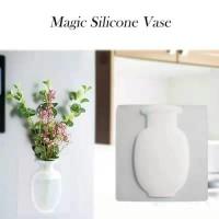 Vas Bunga Silikon Hiasan Dinding Magic Silicone Vase Dekorasi Rumah