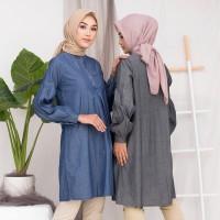 Alesa Tunik / Tunik jeans / tunik denim /hijab tunik