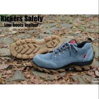 sepatu tactical SAFETY SHOES LOW BOOTS KULIT ASLI UJUNG BESI SOL TRACK