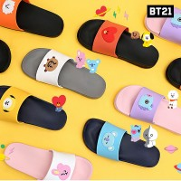 BTS BT21 Resmi Authentic Barang Silicone Sandal 7Characters