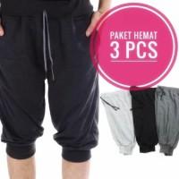 PROMO 3PCS - celana jogger 7/8 bahan adem dan nyaman dipakai