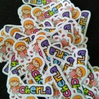 Stiker Label Nama Tahan Air/ Sticker Label Waterproof Cutout Kids
