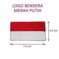 BADGE BENDERA INDONESIA / LOGO SAFETY K3 RAMBU BET BAJU BORDIR