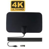 Antena TV Digital DVB-T2 4K High Gain 25dB - TFL-D139 - Black