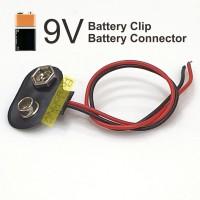 Kancing Batere 9V Klip Baterai Kotak 9V Kabel Battery Clip Connector