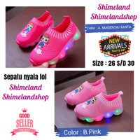 Sepatu Anak LoL Kado Sneakers Lampu Led Anak Perempuan