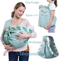 NEW Baby Sling Carrier Dua Fungsi Gendongan Bayi dan Apron Menyusui - CODE A