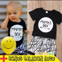 TERMURAH Setelan baju anak laki import bahan halus /Baju bayi import