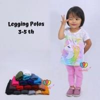 Legging Polos uk. 3-5 th / Celana Anak Panjang Perempuan Leging Kaos