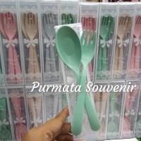 souvenir sendok garfu/souvenir pernikahan/souvenir go green