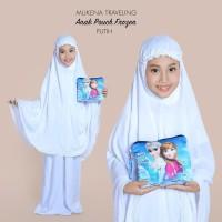 Mukena Pouch Travelling Anak Karakter Putih Size Anak 6-7 Tahun