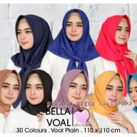 Jilbab Segi Empat Bella Voal Plain By Yeffa Scarf