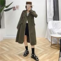 long coat army / terusan jaket winter / cold musim dingin / mantel