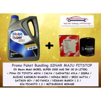 Paket Bundling MOBIL 1 SUPER 5W-30 & FILTER OLI TOYOTA ETIOS & VALCO