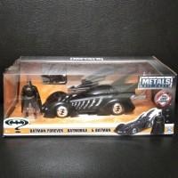 Metal Diecast Jada 1/24 Batmobile+Figure Batman 4ever